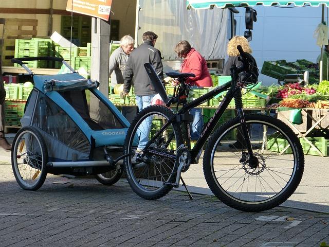 Child trailer with bike